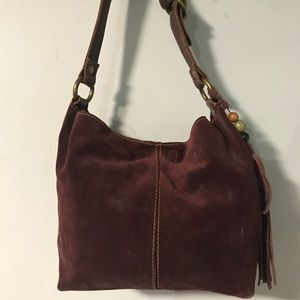 Lucky Brand suede hobo